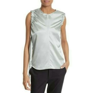 NWT Helmut Lang Ruched Armhole Silk Tank Top